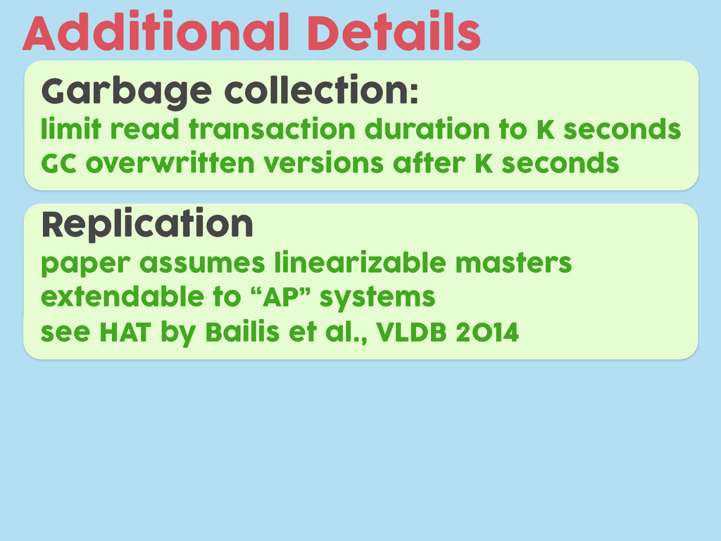 Additional Details Garbage collection: limit re...