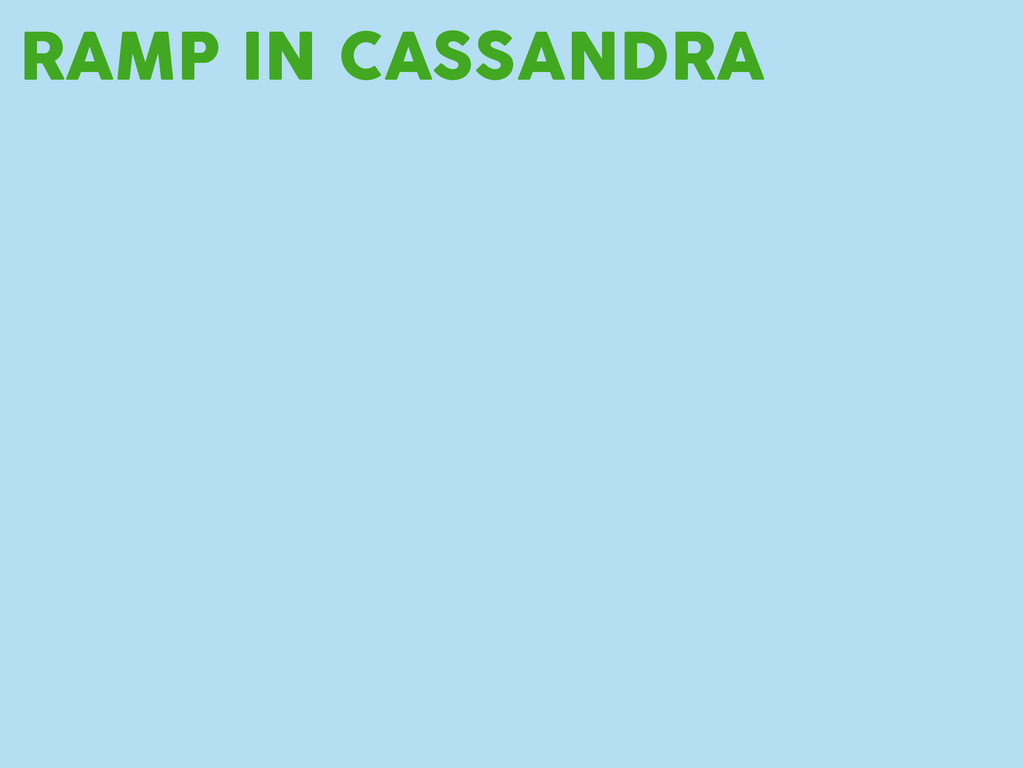 RAMP IN CASSANDRA