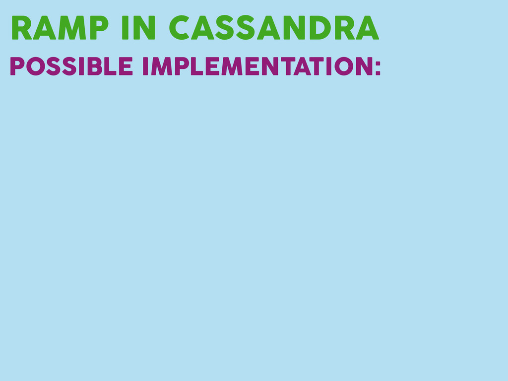 RAMP IN CASSANDRA POSSIBLE IMPLEMENTATION: