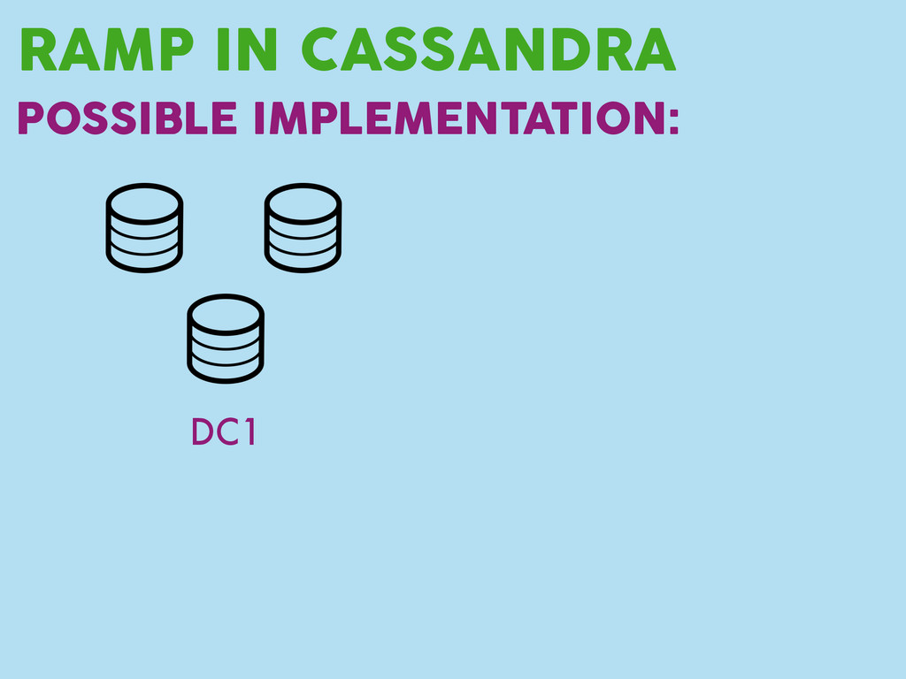 RAMP IN CASSANDRA POSSIBLE IMPLEMENTATION: DC1