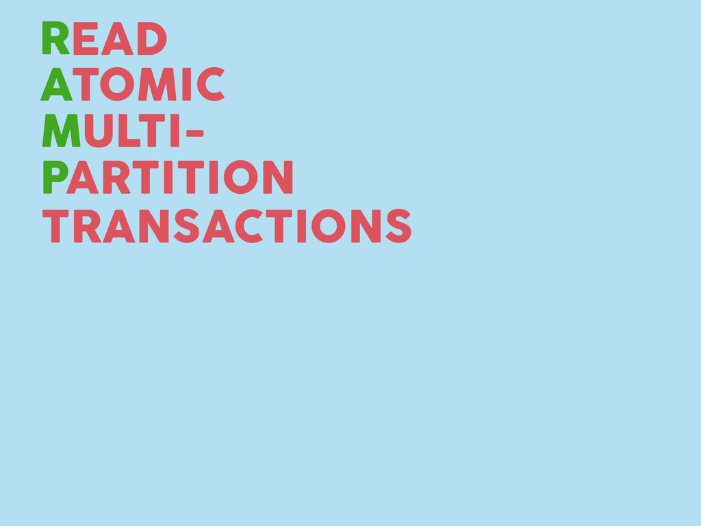 TRANSACTIONS R A M P TOMIC EAD ULTI- ARTITION