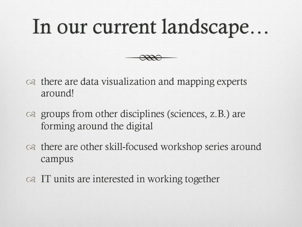 In our current landscape… ™  there are data vi...