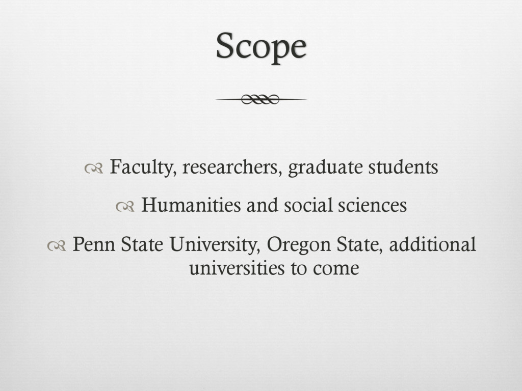 Scope ™ Faculty, researchers, graduate student...