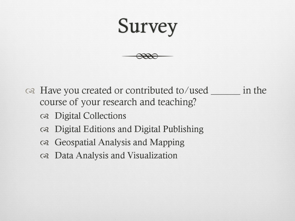 Survey ™  Have you created or contributed to/u...