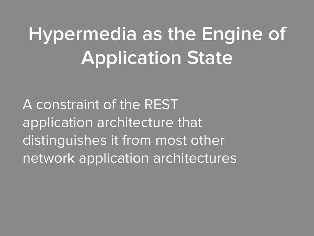 A constraint of the REST application architectu...