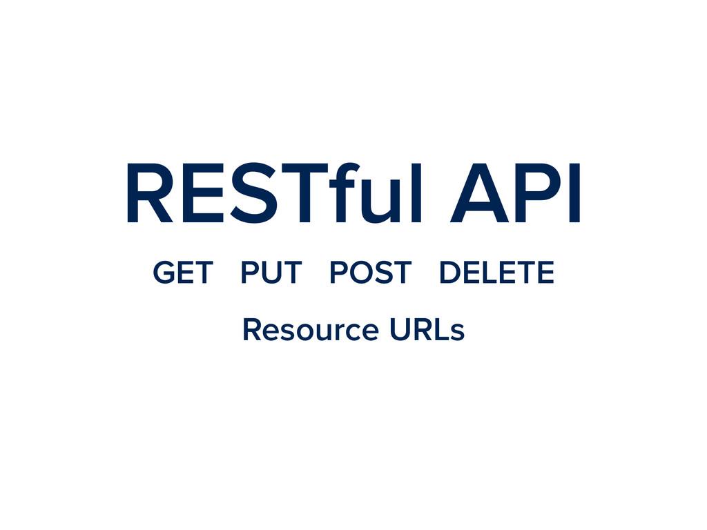 RESTful API GET PUT POST DELETE Resource URLs