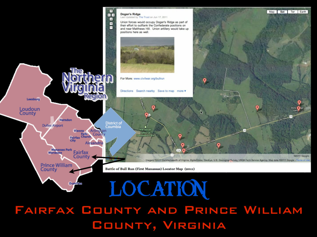 LOCATION Fairfax County and Prince William Coun...