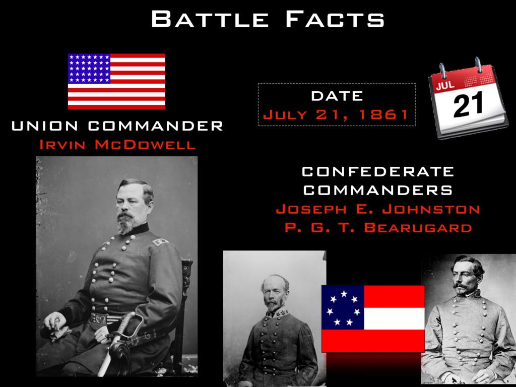 Battle Facts CONFEDERATE COMMANDERS Joseph E. J...
