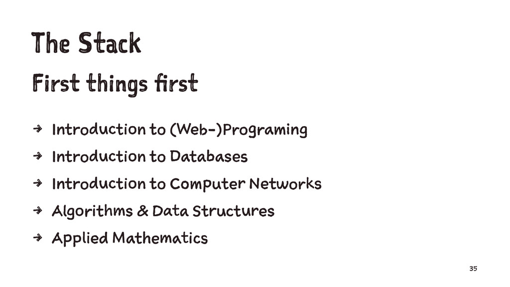 The Stack First things first 4 Introduction to ...