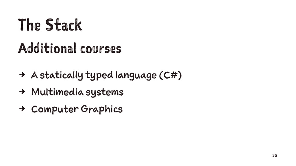 The Stack Additional courses 4 A statically typ...