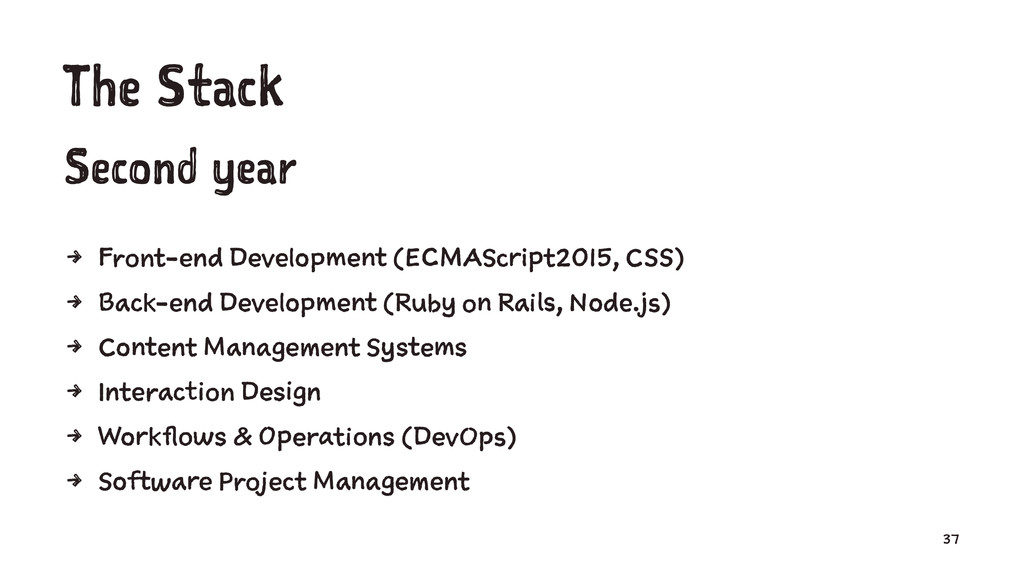The Stack Second year 4 Front-end Development (...