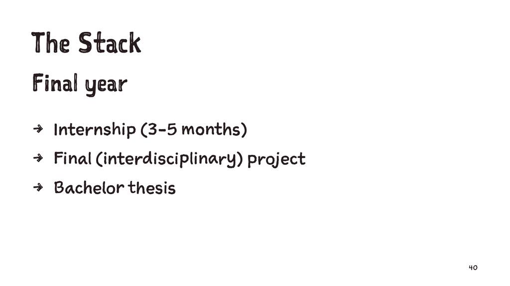 The Stack Final year 4 Internship (3-5 months) ...
