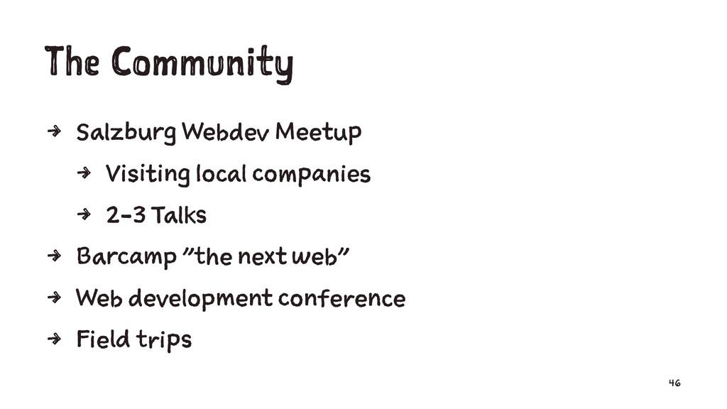 The Community 4 Salzburg Webdev Meetup 4 Visiti...