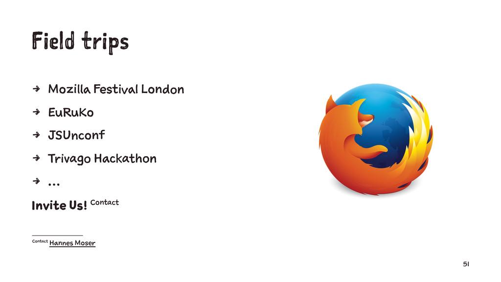 Field trips 4 Mozilla Festival London 4 EuRuKo ...