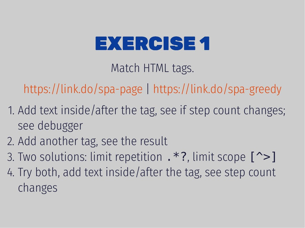 EXERCISE 1 EXERCISE 1 Match HTML tags. | 1. Add...