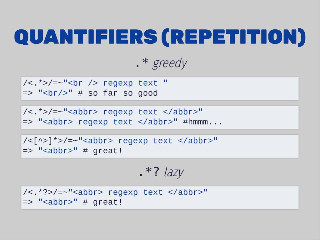 QUANTIFIERS (REPETITION) QUANTIFIERS (REPETITIO...