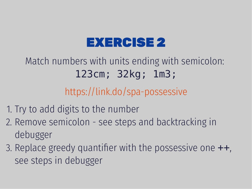 EXERCISE 2 EXERCISE 2 Match numbers with units ...