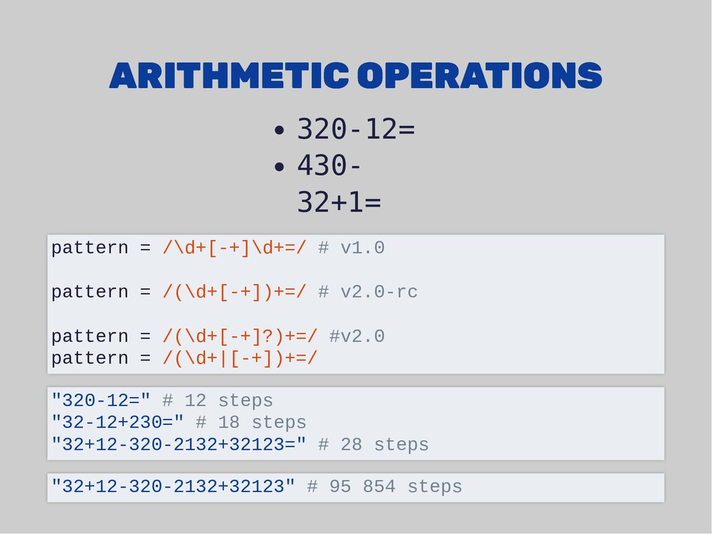ARITHMETIC OPERATIONS ARITHMETIC OPERATIONS 320...