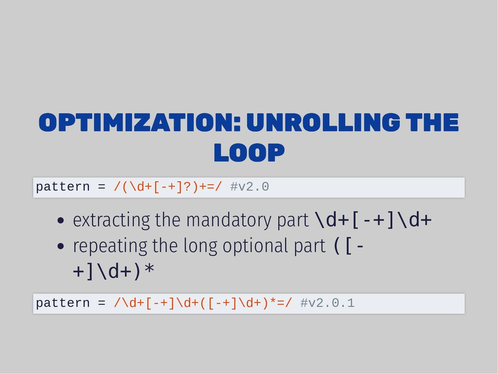 OPTIMIZATION: UNROLLING THE OPTIMIZATION: UNROL...