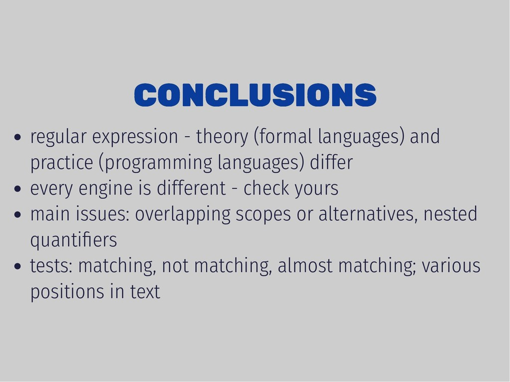 CONCLUSIONS CONCLUSIONS regular expression - th...