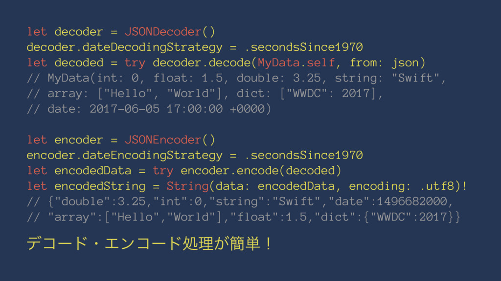 let decoder = JSONDecoder() decoder.dateDecodin...