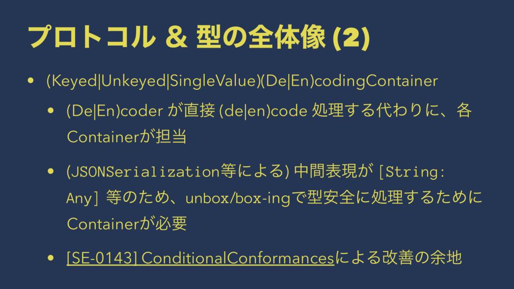 ϓϩτίϧ ˍ ܕͷશମ૾ (2) • (Keyed|Unkeyed|SingleValue)...