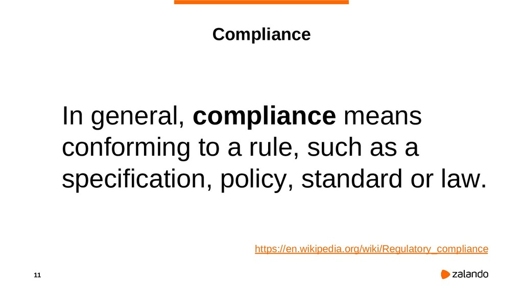 11 Compliance In general, compliance means conf...
