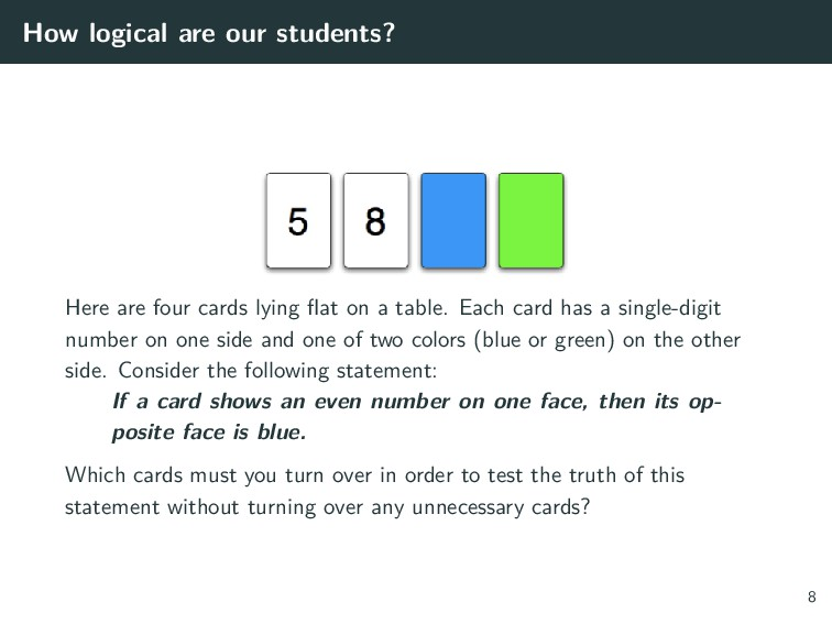 How logical are our students? Here are four car...