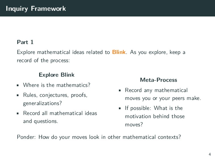 Inquiry Framework Part 1 Explore mathematical i...