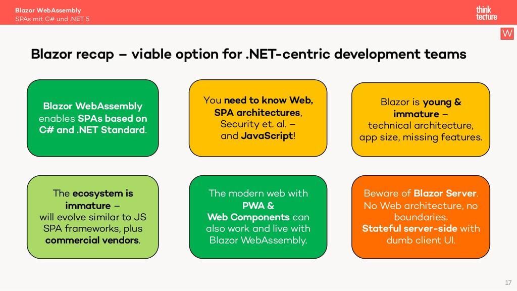 17 Blazor WebAssembly SPAs mit C# und .NET 5 Bl...