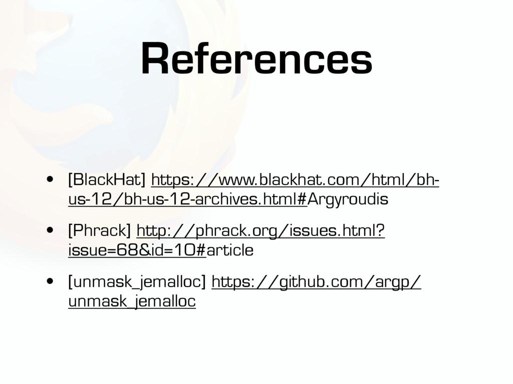 • [BlackHat] https://www.blackhat.com/html/bh- ...