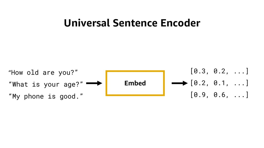 "Universal Sentence Encoder Embed ""How old are y..."