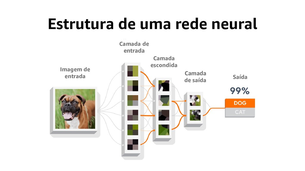 Estrutura de uma rede neural Imagem de entrada ...