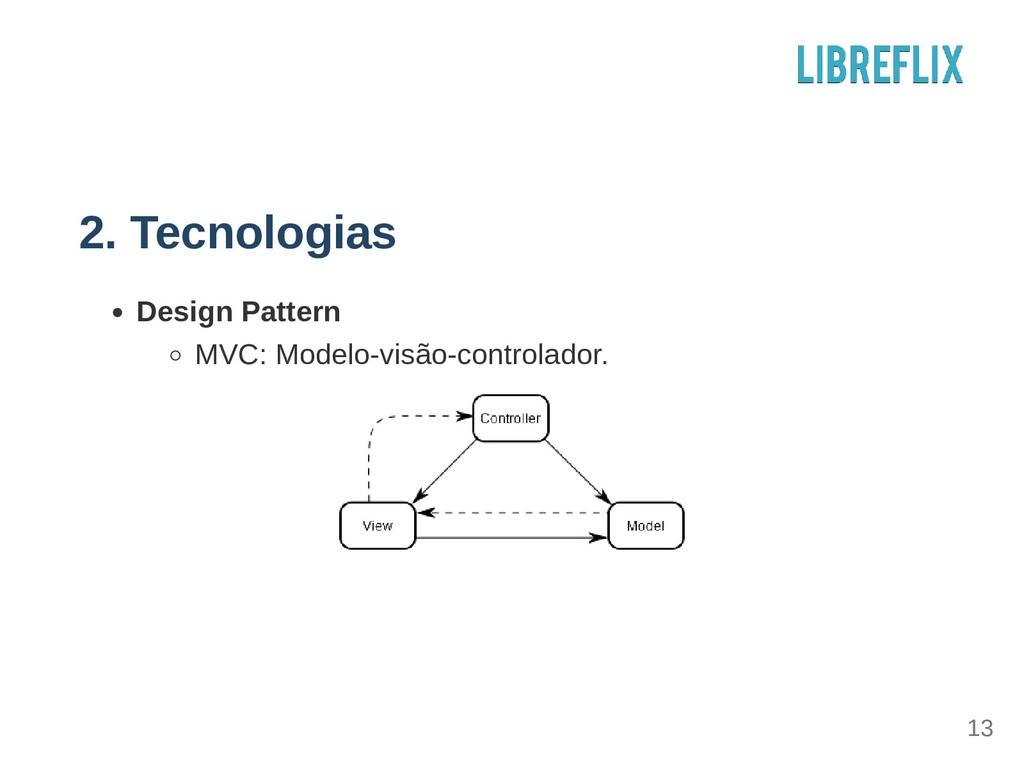 2. Tecnologias Design Pattern MVC: Modelovisão...