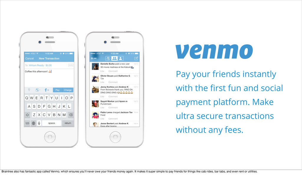 Pay your friends instantly with the first fun an...