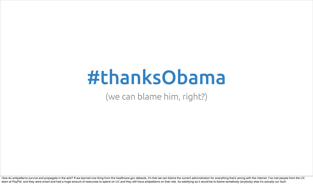 #thanksObama (we can blame him, right?) How do ...