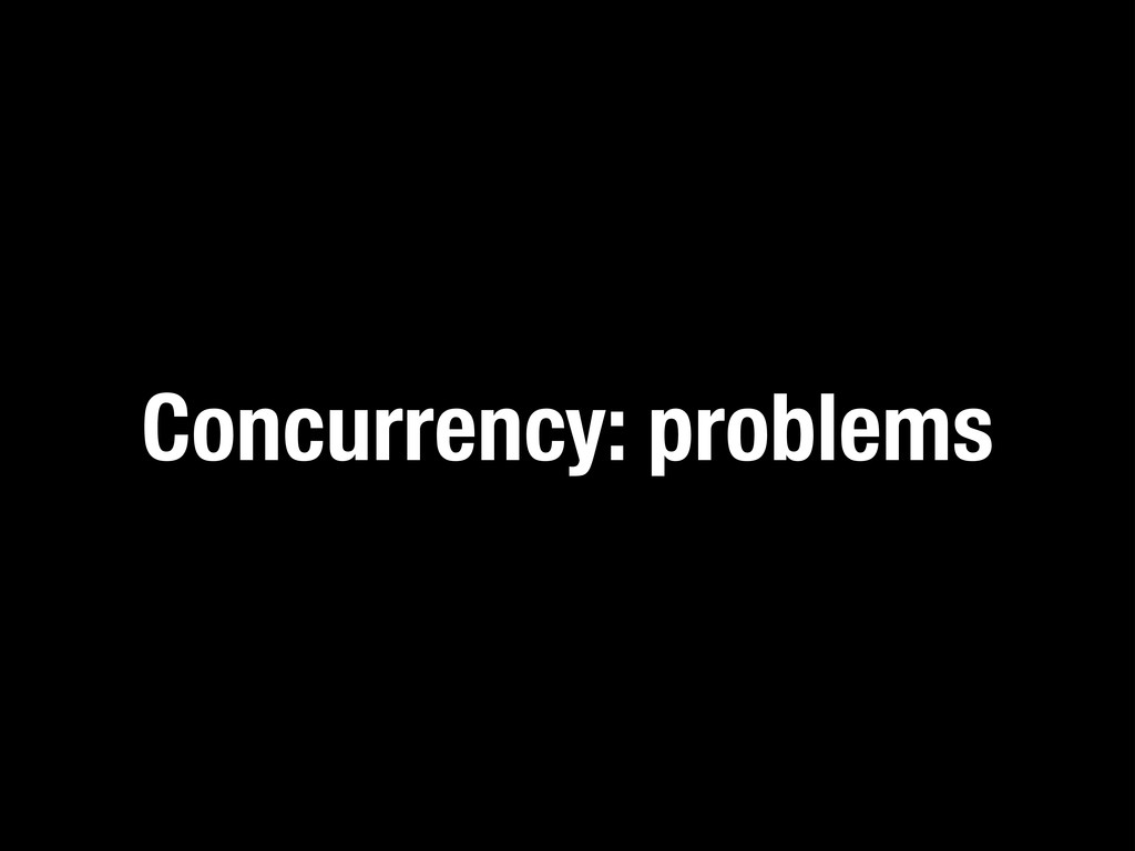 Concurrency: problems