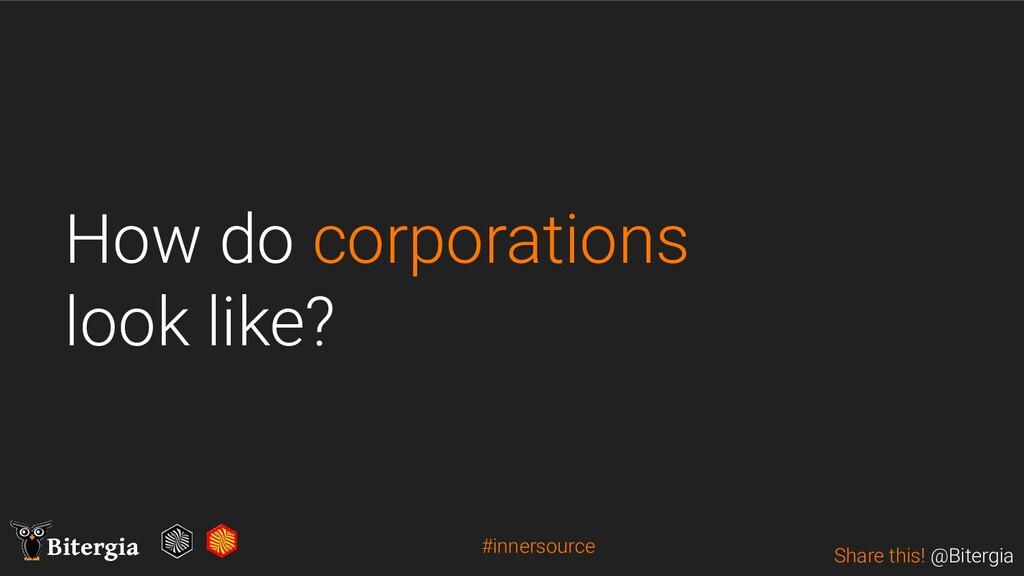 Share this! @Bitergia Bitergia How do corporati...