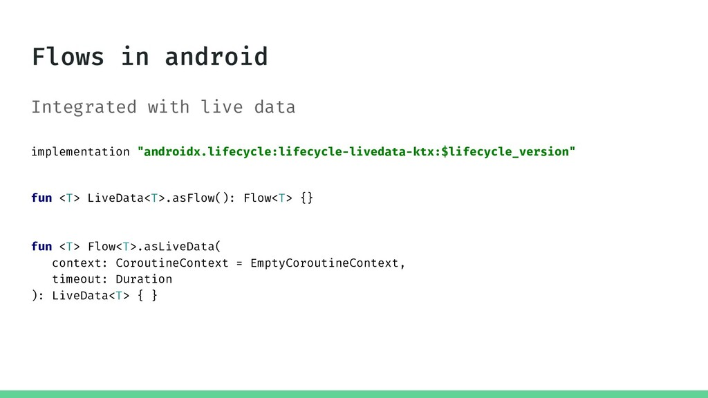"""Integrated with live data implementation """"andro..."""