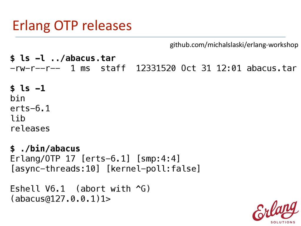 Erlang OTP releases $ ls -l ../abacus.tar...