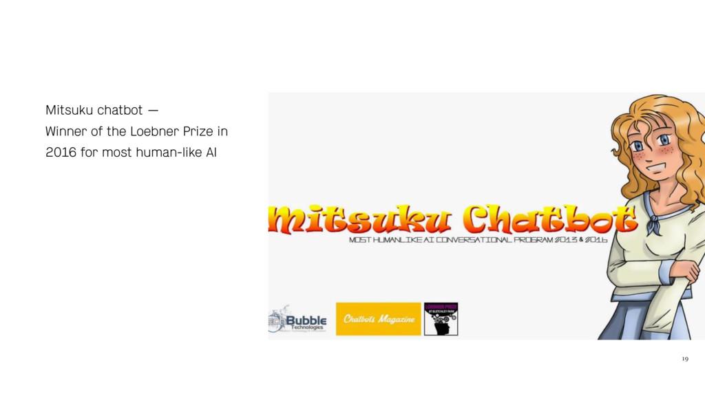 19 Mitsuku chatbot — Winner of the Loebner Priz...