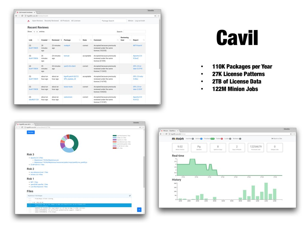 Cavil • 110K Packages per Year • 27K License Pa...