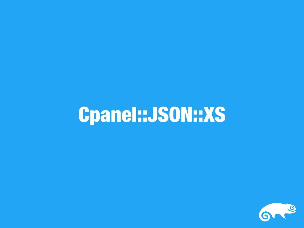 Cpanel::JSON::XS