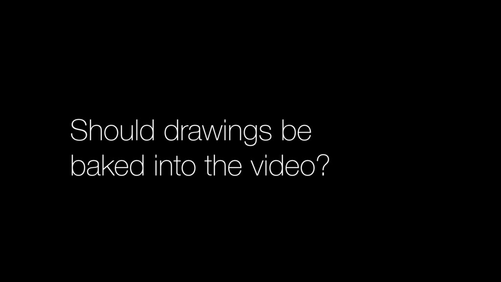 Should drawings be baked into the video?