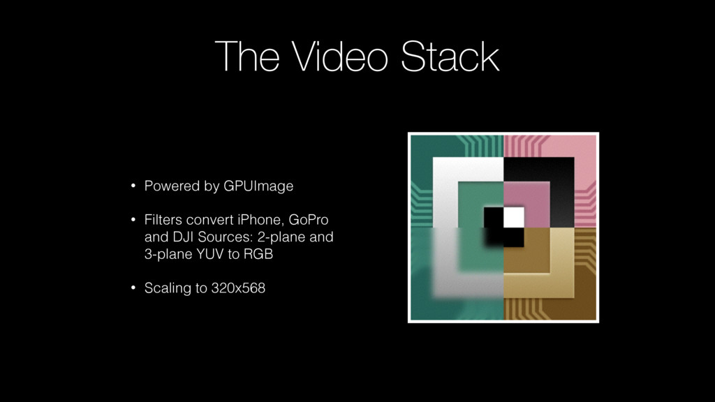 The Video Stack • Powered by GPUImage • Filters...