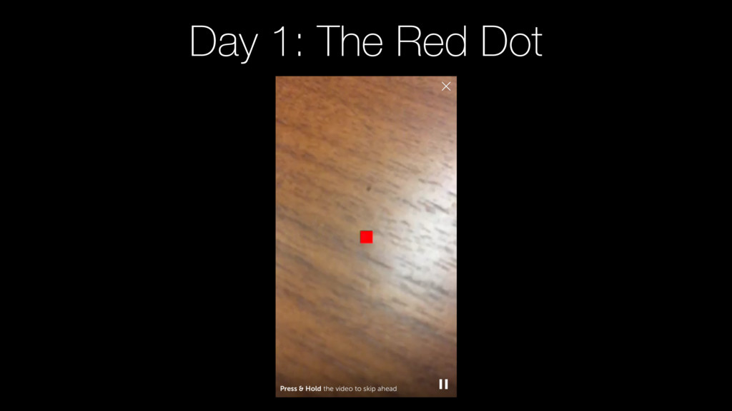 Day 1: The Red Dot