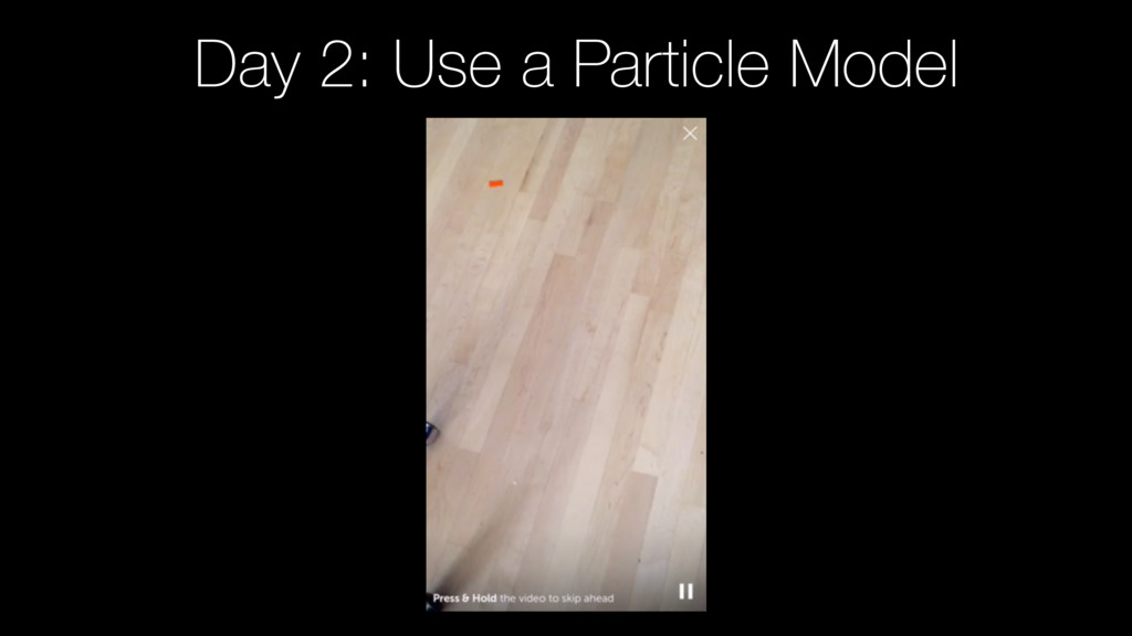 Day 2: Use a Particle Model