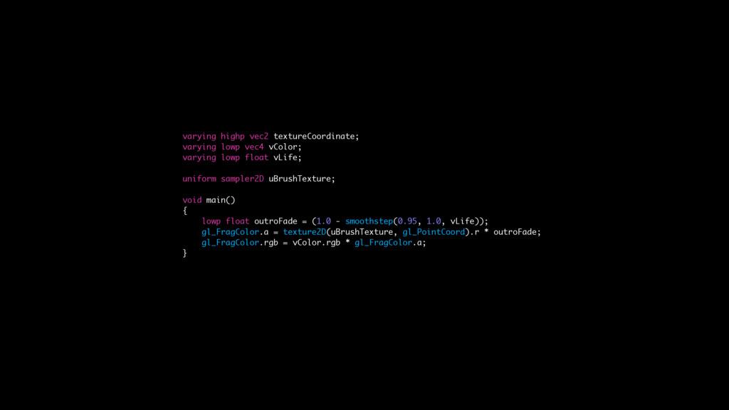 varying highp vec2 textureCoordinate; varying l...