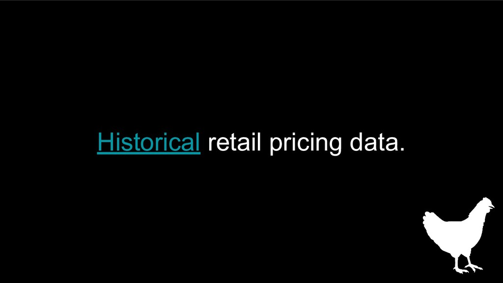 Historical retail pricing data.