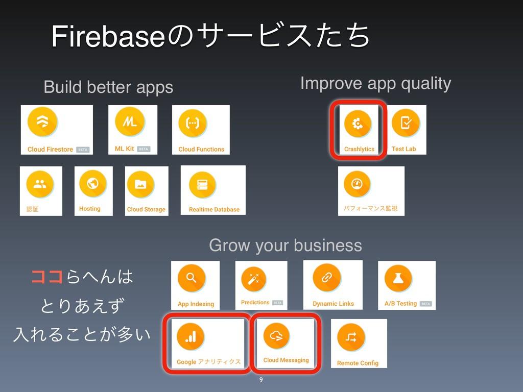 FirebaseͷαʔϏεͨͪ Grow your business Improve app ...